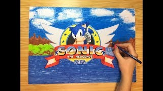 Speed Drawing Sonic The Hedgehog Title Screen
