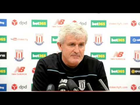 Mark Hughes; Arsenal v Stoke City Press conference 10th Sept 2015