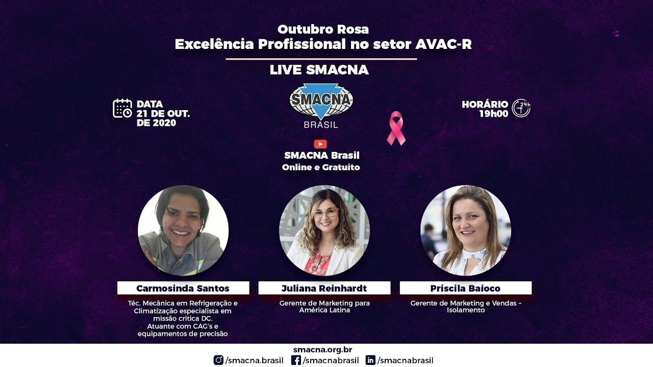 Outubro Rosa - Excelência Profissional no setor AVAC-R Carmosinda Santo - Priscila Baioco