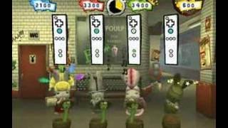 Rayman Raving Rabbids 2 (Wii) - Snake Charmer Gameplay