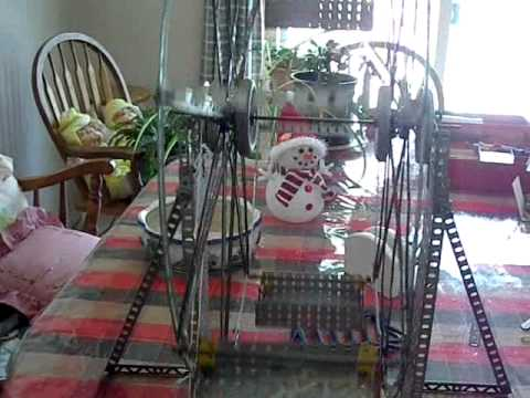 1959 A. C. Gilbert musical Ferris Wheel Erector Set in motion