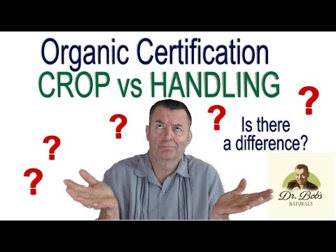 Crop vs Handling Organic Certification - Fraud