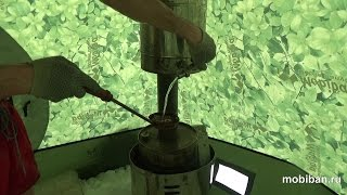Тестирование печи КЦ-1 с баком для воды(Тестирование печи КЦ-1 с баком для воды в мобильной бане Мобиба МБ-10. Расцветка палатки
