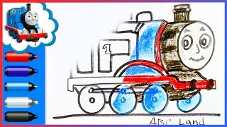Thomas and Friends ♦ How to Draw Thomas the Tank Engine ♦ Animated Drawing Tutorial