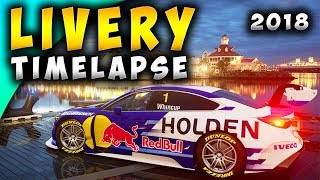 GT SPORT: RedBull Holden Commodore Supercar Livery 2018 Time Lapse Speed Art