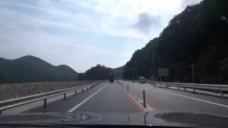 〔小郡萩道路〕絵堂入口⇒美祢東料金所 2011 12 8 HDR CX700V
