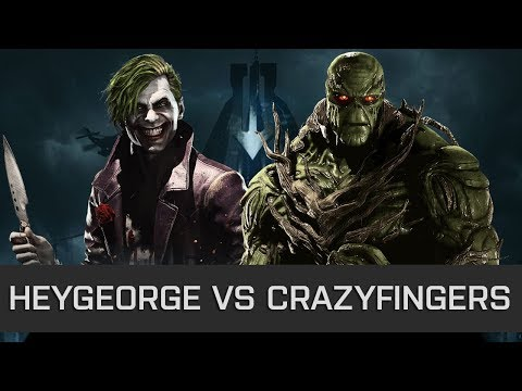 Injustice 2 - High Level FT10 - Hey George (Joker) vs Crazy Fingers (Swamp Thing)