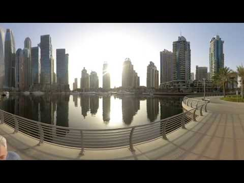 Дубаи360/Путевые Заметки – 360 видео с Dubai Marina Walk – тестирую новую 360 камеру Insta360 One R