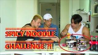 [ENG SUB] Korean Bodybuilders Spicy Noodle Challenge !!! (Mukbang: Eating Show)