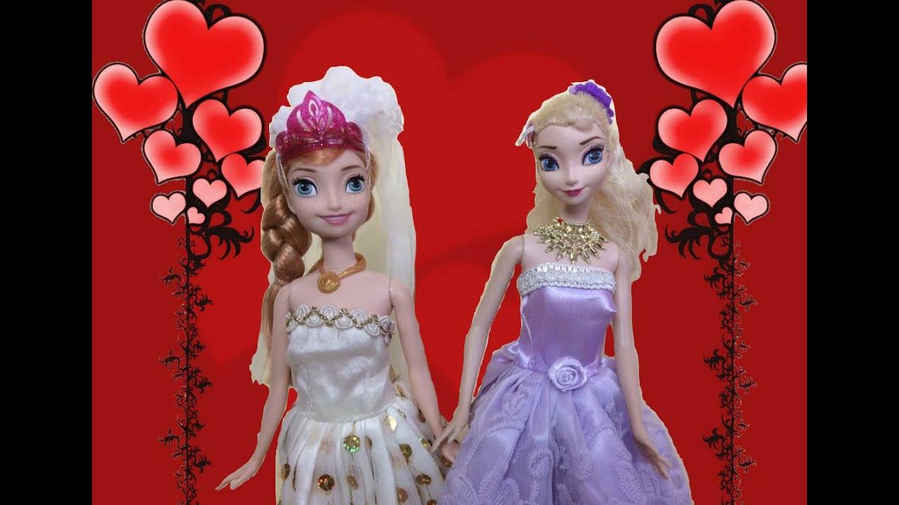 Anna and elsa wedding