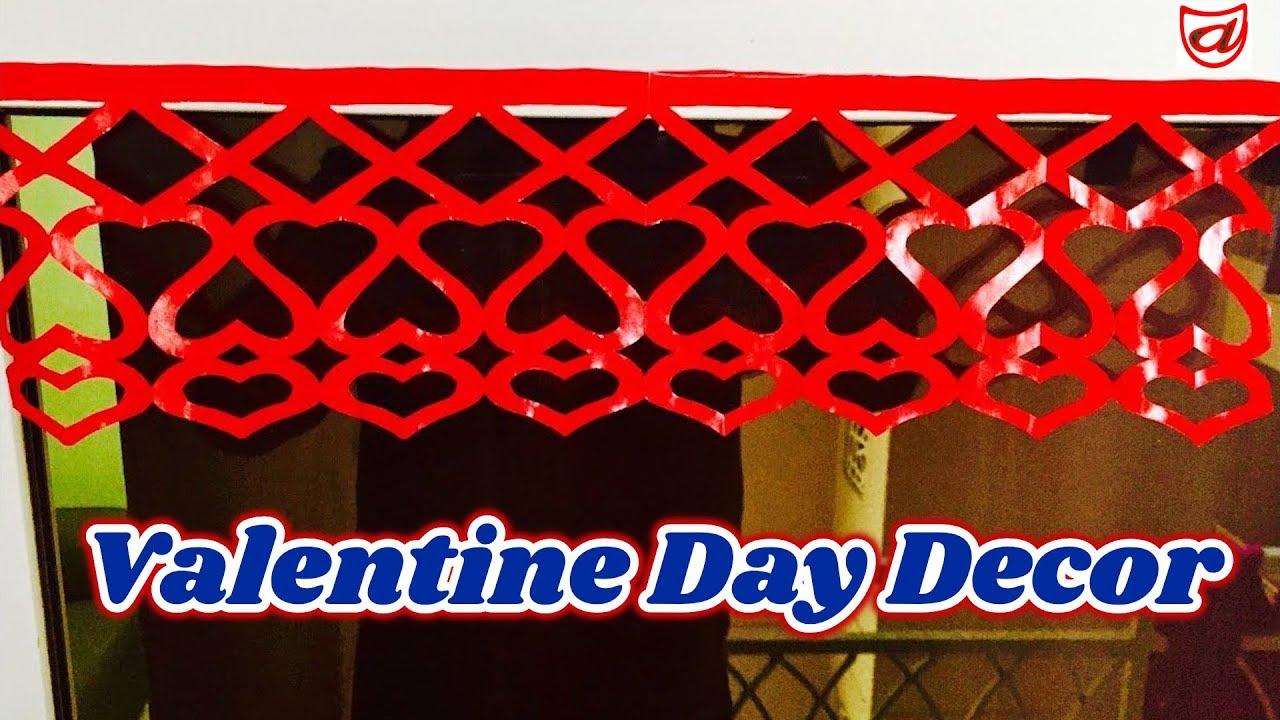 Diy paper cutting door decor toran paper heart door for Paper cutting designs for decoration