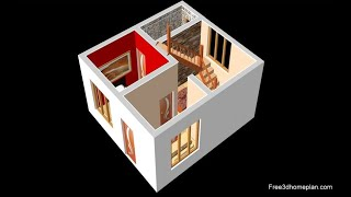 6x6 Metres Small House Design Plan For 5 Lac Bedroom With  American Kitchen 2020