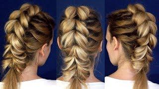 Коса обратная на резинках | Hairstyles by REM | © Lena Rogovaya