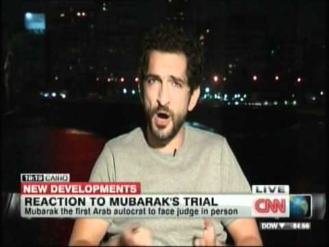 Amr Waked on CNN talking Mubarak trial August 3rd 2011