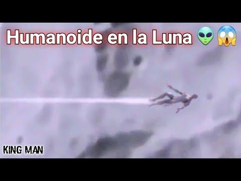 Humanoide grabado sobrevolando la superficie de la Luna a velocidad hipersonica? ?