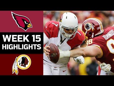 Cardinals vs. Redskins | NFL Week 15 Game Highlights