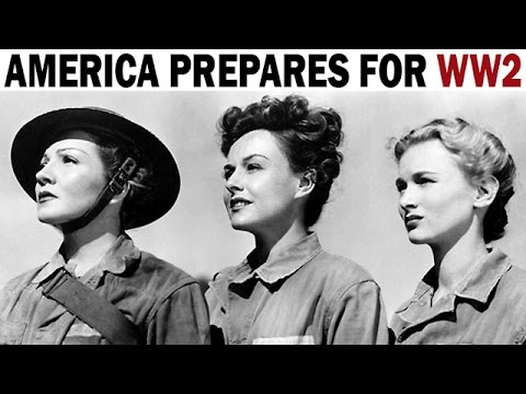 America Prepares for World War 2 | America's Call to Arms | WW2 Newsreel | 1941