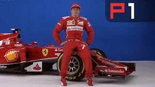 Kimi Raikkonen & new Ferrari F14-T at 2014 car launch