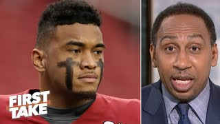 Stephen A. to Tua Tagovailoa: Get the hell out of college as soon as you can! | First Take