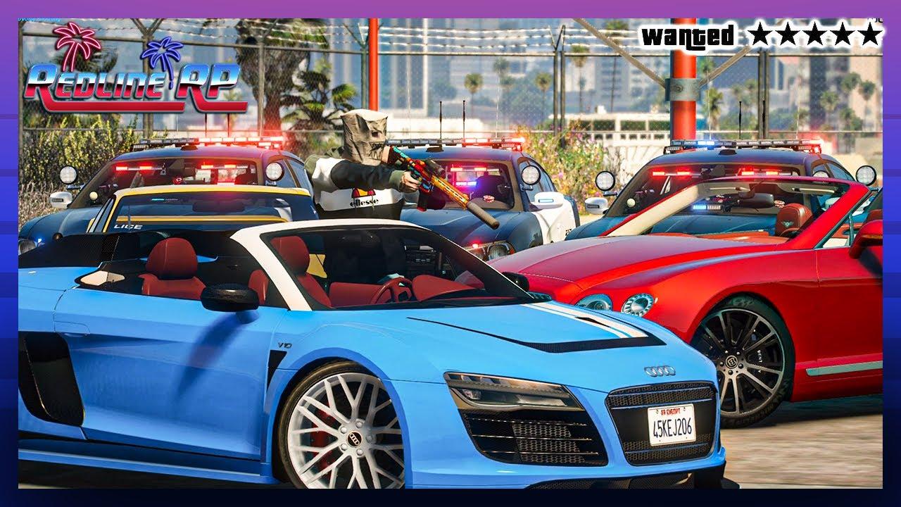 GTA 5 Roleplay - RedlineRP -  GANGS BACK STEALING CARS  # 337