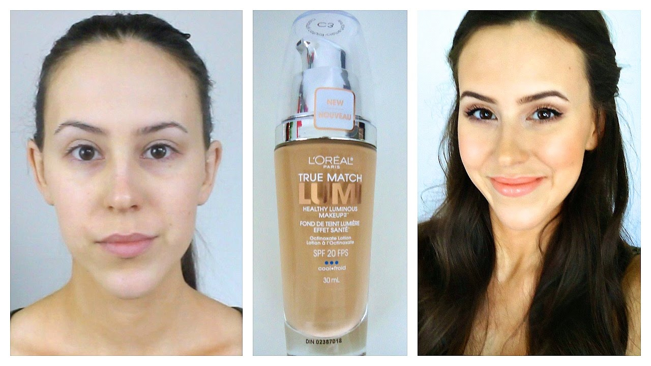 First Impression: L'Oreal True Match Lumi Foundation - Review and Demo - YouTube