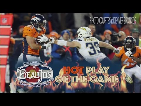 Hot play of the game - Broncos v Chargers