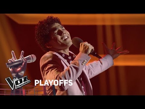 "Playoff #TeamTini: Juan PabloNieves canta ""Vivir mi vida"" de Marc Anthony - La Voz Argentina 2018"