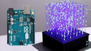 8x8x8 LED CUBE WITH ARDUINO UNO