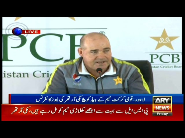 Lahore: Head Coach of Pakistan Cricket Team Mickey Arthur's news conference.