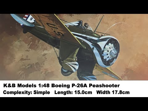 K&B Models 1:48 Boeing P-26A Peashooter Kit Review