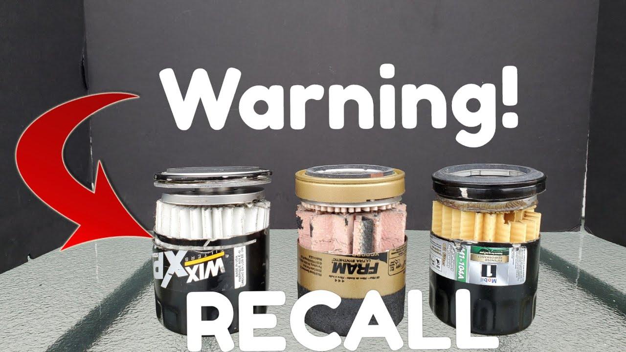 Consumer Alert: Oil Filter!