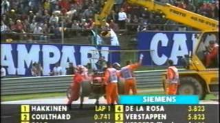 F1 Austrian GP 2000 Start Crash