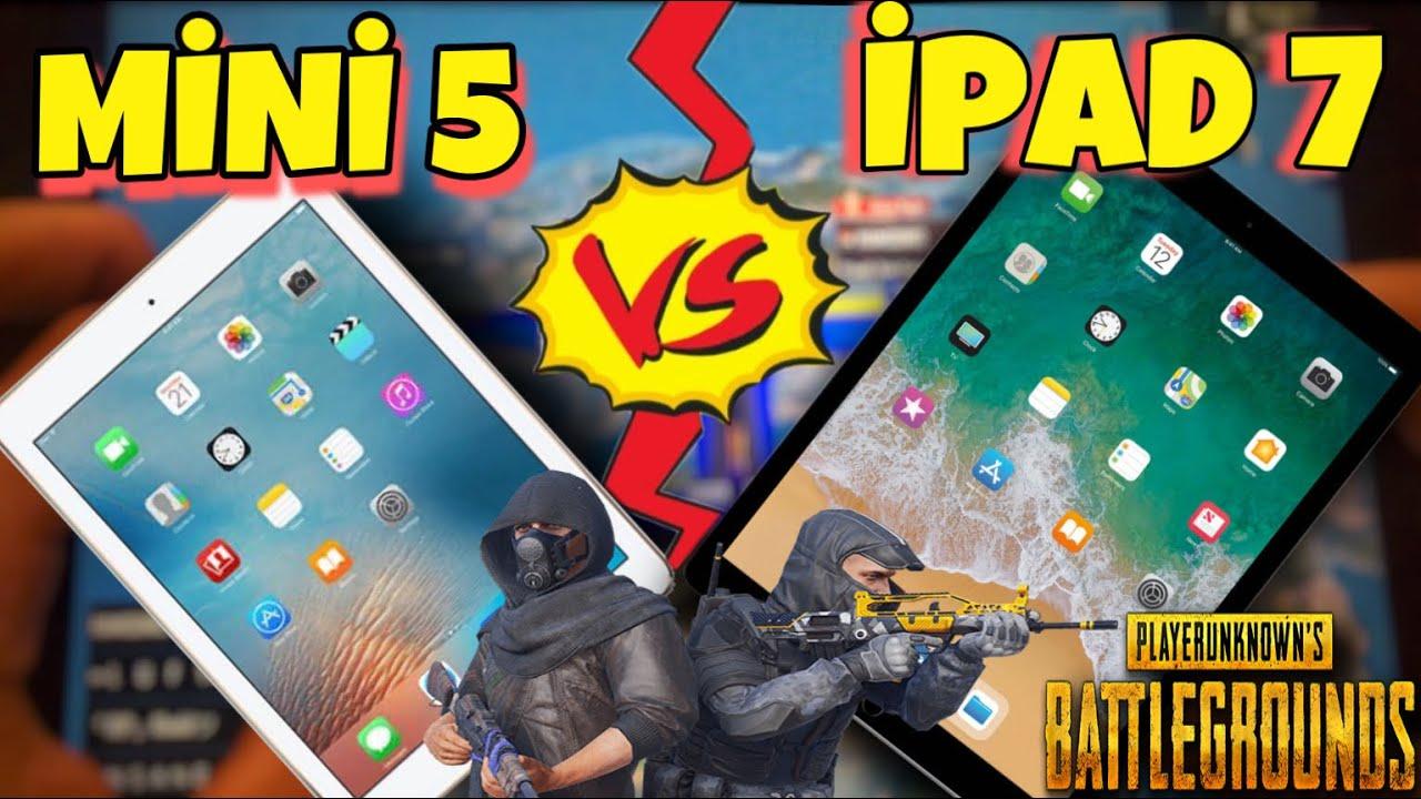Pubg Mobile Icin En Iyi Cihaz Hangisi Ipad Mini 5 Vs Ipad 7 Youtube