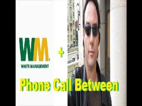 Phone Call Between Waste Management and Adam Lewis