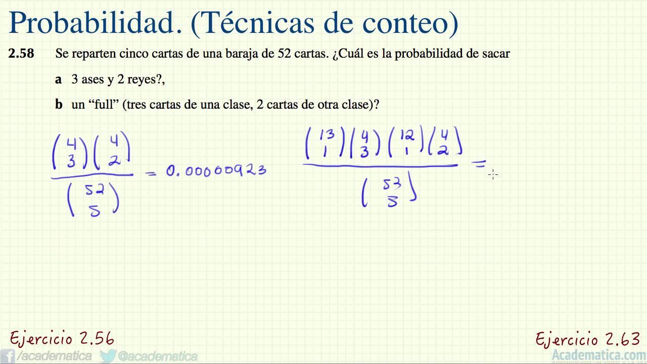 T cnicas de conteo probabilidad ejercicios 2 for Que son tecnicas de oficina