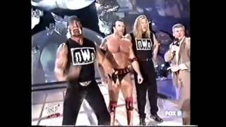 wwe stone cold save the rock from the nwo.