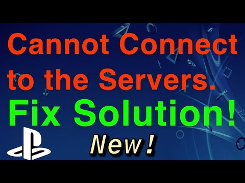 PS4 CANNOT CONNECT TO THE SERVERS SOLUTION FIX! Easy