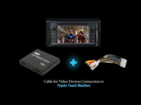 How to Connect Video and Camera in Toyota, Subaru, Scion With the Cable