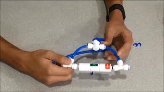 Installing Flush Valve on Reverse Osmosis RO Unit
