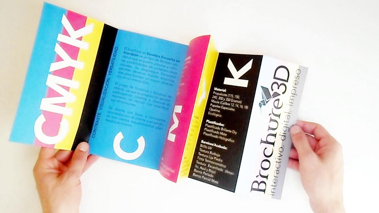 Escalera Envuelta En Acordeón Brochures Creativos Descargar Plantillas