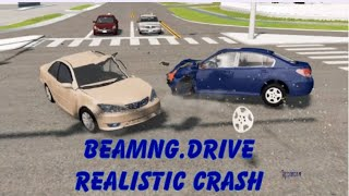 BeamNG.Drive Realistic T-Bone Crash! With real life sounds