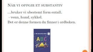 ordklasser del 1 substantiv 31 8 14