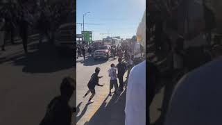 Pickup Truck with Trailer Rams Through Tulsa Black Lives Matter Protest