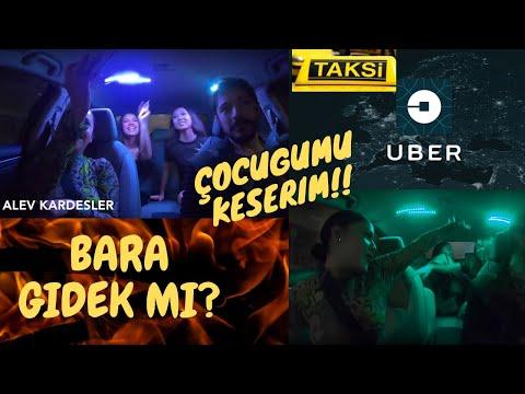 Bara Davet Eden Kızlarla Uberde Zor Anlar ( Amerika'da UBER )  ( California'da Komik Taksi )