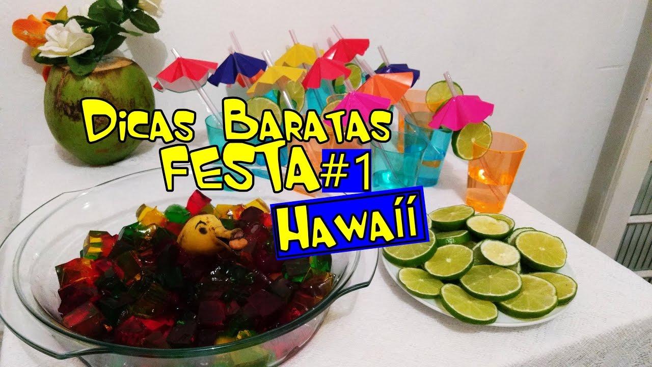 1 Dicas Baratas De Decoração Festa Hawaíí Comidinhas Youtube
