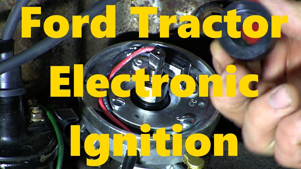 ford wiring diagram distributor digital frequency counter block naa jubilee 8n electronic ignition installation - youtube