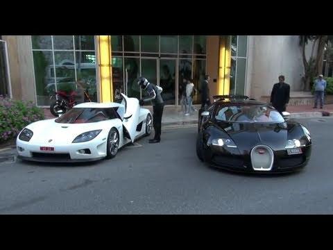 Koenigsegg CCX, Bugatti Veyron Sang Noir, Noble M600 in Monte Carlo, Monaco