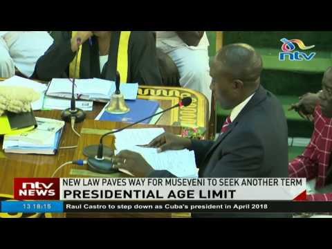 Uganda MPs pave way for Museveni to seek new term after passing law removing age limit