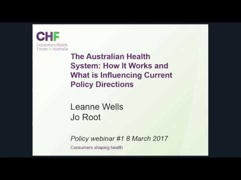 Policy Webinar - Overview of the Australian Health System