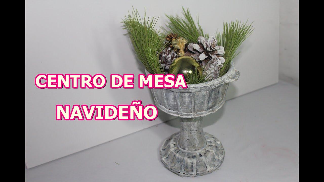 Centro de mesa navide o en forma de copa youtube for Centro de mesa navideno manualidades